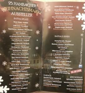 25. Hambacher Weihnachtsmarkt Aussteller